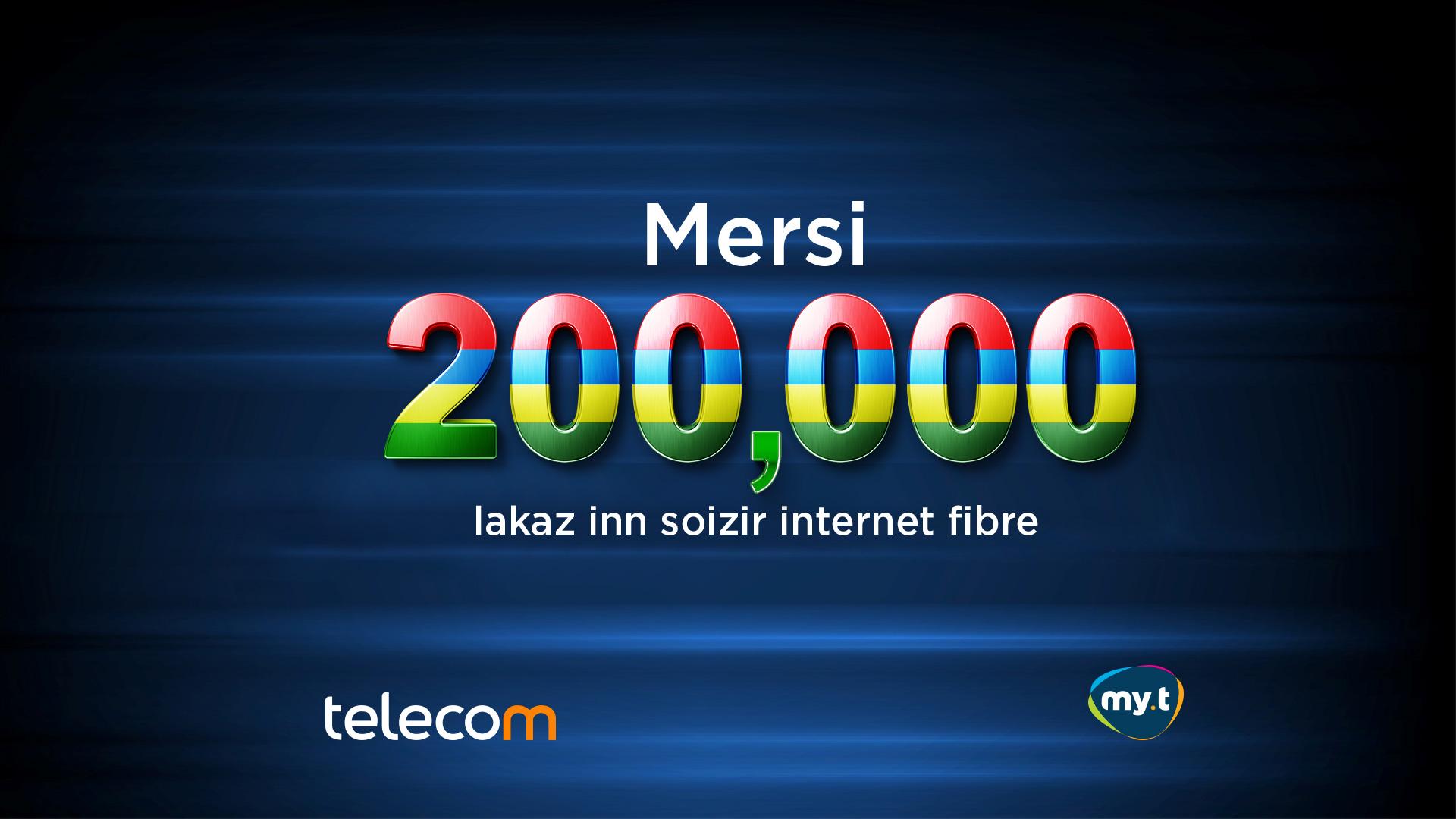 200 000 internet fibre